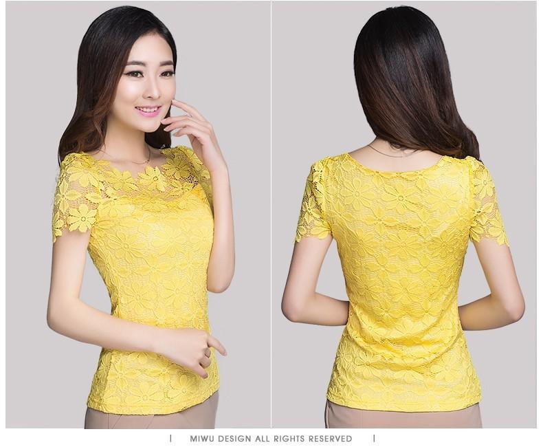 HTB1YwZhHXXXXXbnaFXXq6xXFXXXb - Short Sleeve Tee Shirt Top Clothing Lace Blouse Sexy Floral