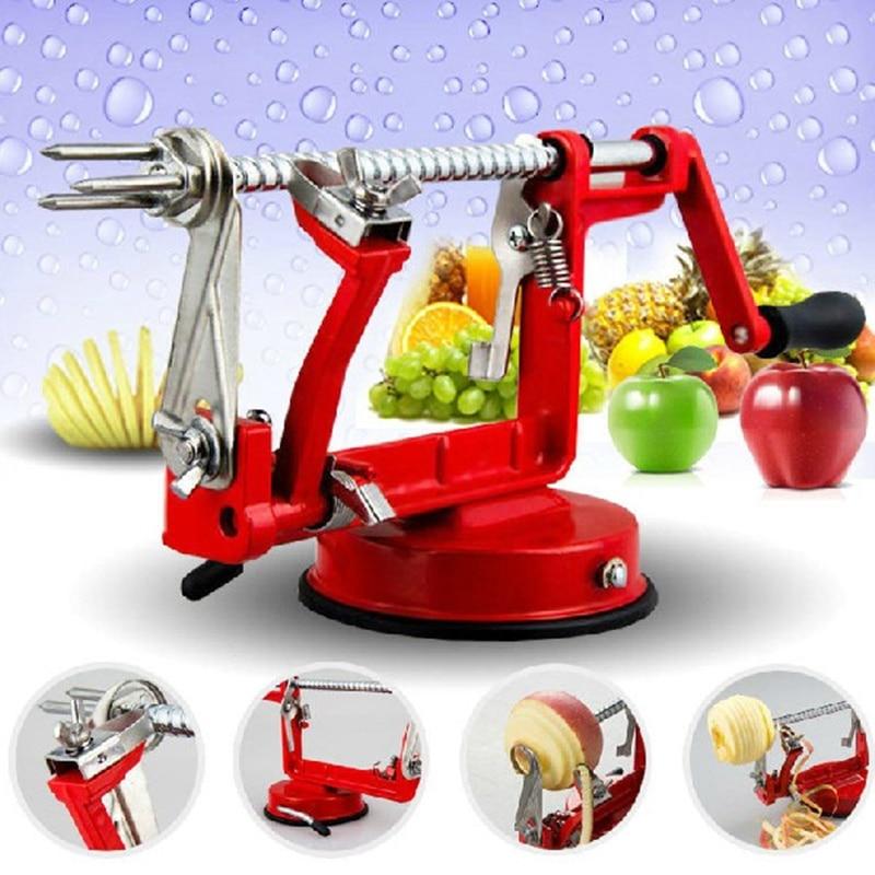 New 3 In 1 Spiral Apple Peeler Corer Potato Slinky Peeling Machine Cutter Slicer Fruit Vegetable Tools Kitchen Accessories in Peelers Zesters from Home Garden