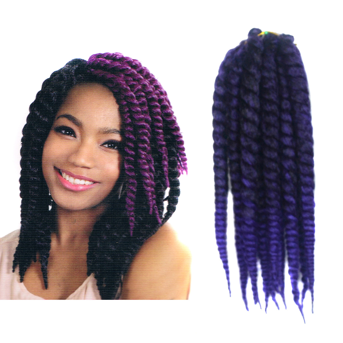 12 Inch Cubic Twist Crochet Braids Hair Extensions Ombre Braiding ...