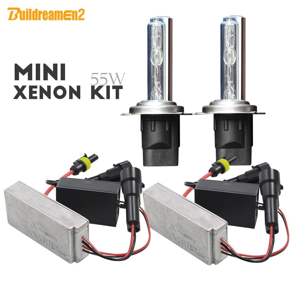 Buildreamen2 55 W H1 H3 H7 H8 H11 881 9005 HB3 9006 9012 HID AC Xenon Kit ampoule de Ballast mince sans erreur voiture phare antibrouillard 12 V