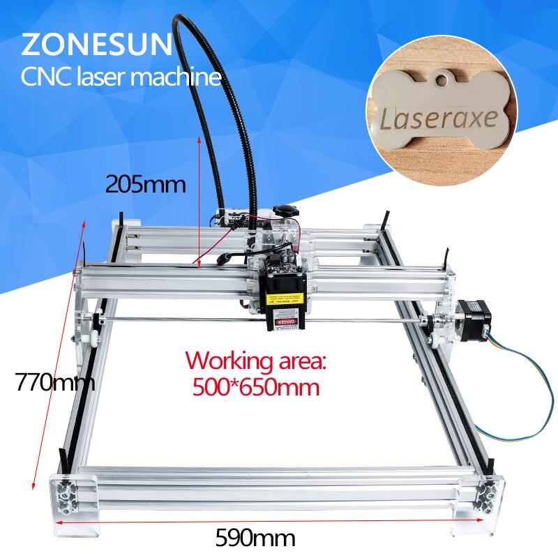 ZONESUN 5500 mw COMME-3 big zone de travail 65*50 cm DIY laser mcahine, laser machine de gravure, cnc laser machine, avancée jouets, le meilleur cadeau