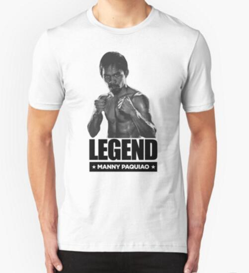 2016 Fashion  T Shirt Manny Pacquiao T Shirts Men Cotton Short Sleeve O Neck Male T-shirt Boxer Tee Fitness Clothes