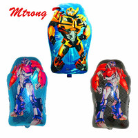 50pcs Cartoon Transforme Printing Foil Balloons Bumblebee Optimus Prime Balloon Party Birthday Decoration Kids Gifts Supplies