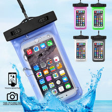 Sealed Waterproof Phone Case For iPhone X 8 7 6 6S SE Coque Underwater Mobile Phone Pouch Swimming Phone Bag For Outdoor Diving стоимость