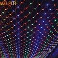 1 pc 3 m * 2 m Luzes Líquidas 200LED Net Malha Luzes Decorativa Twinkle Iluminação de Natal Festa de Casamento UE 220 V