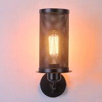 Lâmpada de parede loft americano do vintage luz interior lâmpadas cabeceira arandela industrial quarto luzes parede para casa iluminação 110 v/220 v e27