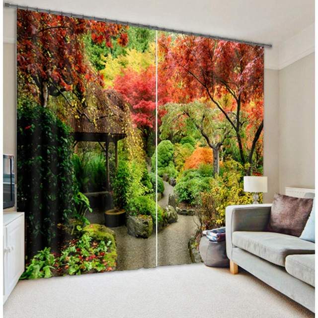 Fantasy Forest 3D Photo Printing Blackout Window Curtains For Living Room  Bedding Room Hotel/Office Drapes Cortinas Para