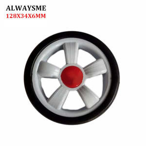ALWAYSME Replacement-Parts Stroller-Wheels 1PCS 128mm-Width 34mm-Hole 6mm Universal Baby