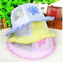 1PCS 2016 New Fashion Infant Visor Sun Hats Caps Soft Cotton Baby Butterfly Pattern Hat #YU999