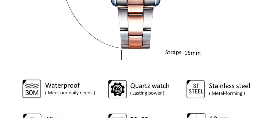 Montre luxe à quartz