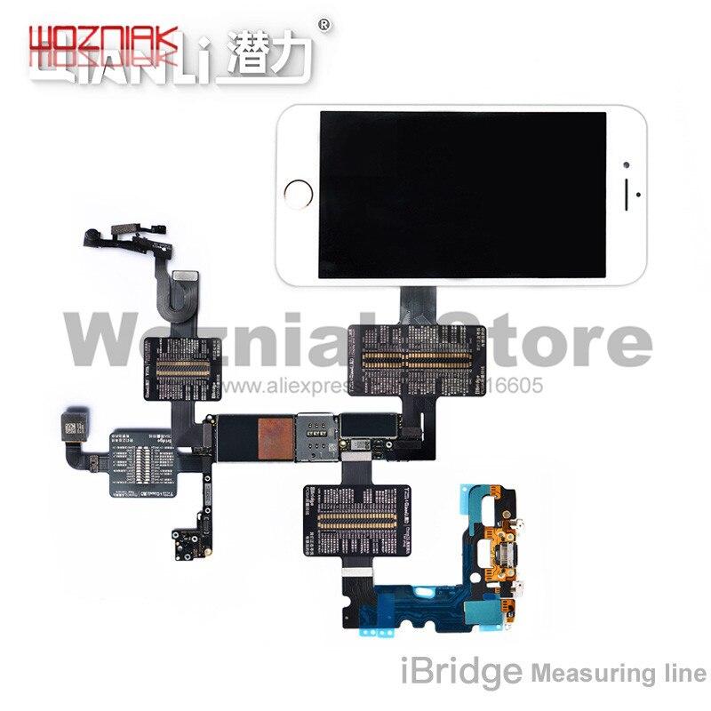 QianLi iBridge FPC מבחן כבל עבור iphone 6 6S 7 7P 8 8p x xs מקס האם בדיקת תקלה מגע קדמי אחורי מצלמה טביעות אצבע