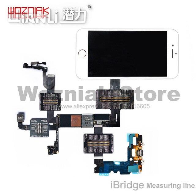 QianLi iBridge FPC câble de Test pour iphone 6 6S 7 7P 8 8p x xs max carte mère vérification des défauts tactile avant arrière caméra empreinte digitale