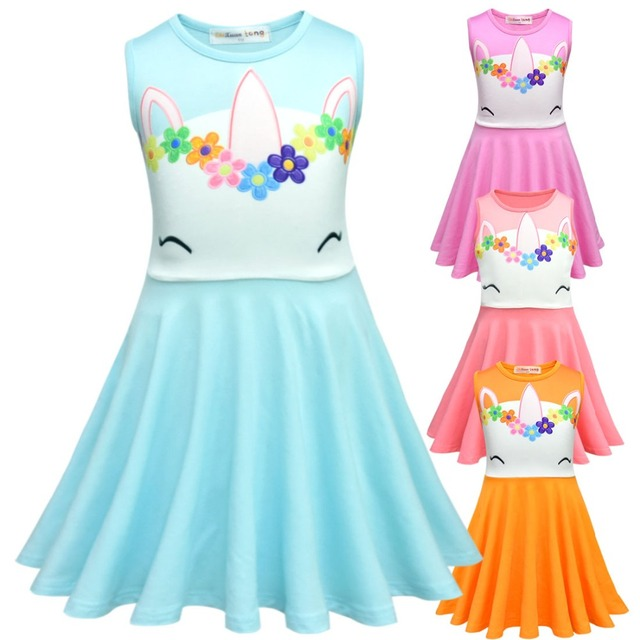 5d73fb5d0f84 Fancy Kids Unicorn Tulle Dress for Girls Embroidery Ball Gown Baby Flower  Girl Princess Dresses Wedding Party Costumes Unicornio