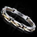 Joyería de los hombres pulseras y brazaletes de moda de acero inoxidable accesorios punk rock pulseras bijoux cadena de la mano pulsera de oro hombre homme