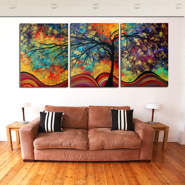 Big Paintings For Living Room. SAVE BIG ON ANNIVERSARY SALE Online Shop Large Wall Art Abstract Tree Painting Colorful