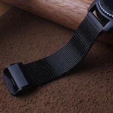 22 мм ремешок для часов из нержавеющей стали+ быстросъемные шпильки для samsung gear S3 классический Frontier ремешок для наручных часов сетчатый Браслет