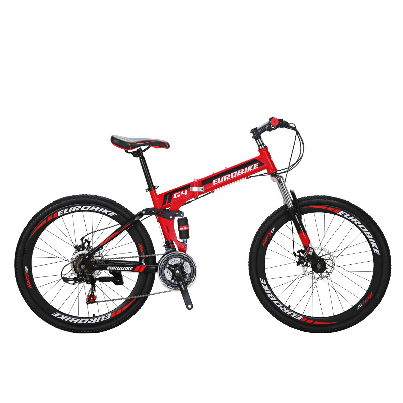 EUROBIKE 26 INCH 21 SPEED Bicycle SUSPENSION FOLDING BIKE WITH SUSPENSION FORK Folding B