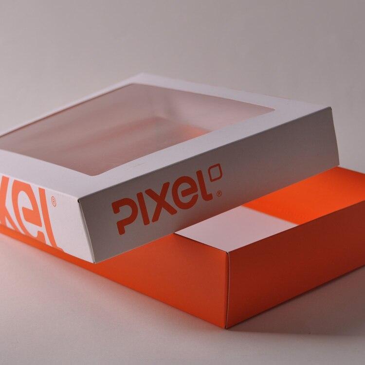 retail box packaging package kraft apparel packaging box on