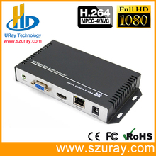 URay H.264 IP H264 HDMI de Vídeo VGA HD Decodificador de Áudio Streaming Decodificador Câmera IP Para IP UDP RTMP RTSP HLS receptor