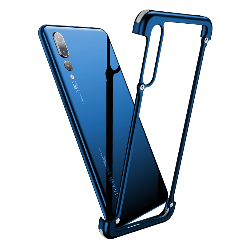 Luxury Airbag Metal Protection Case For Huawei P20 Case lite Personality Shell for Huawei P20 Pro case Slim Metal Bumper cover