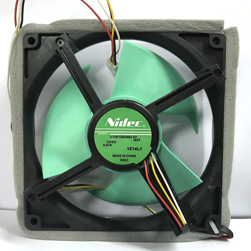 Nidec new version U12E12BS8B3-57 J231 vs U12E12BS8F3-57 12V 0.07A Waterproof Silent Cooling Fan free shipping original new nidec h60t12bs2a7 53 6025 6cm 12v 0 35a ultra durable fan