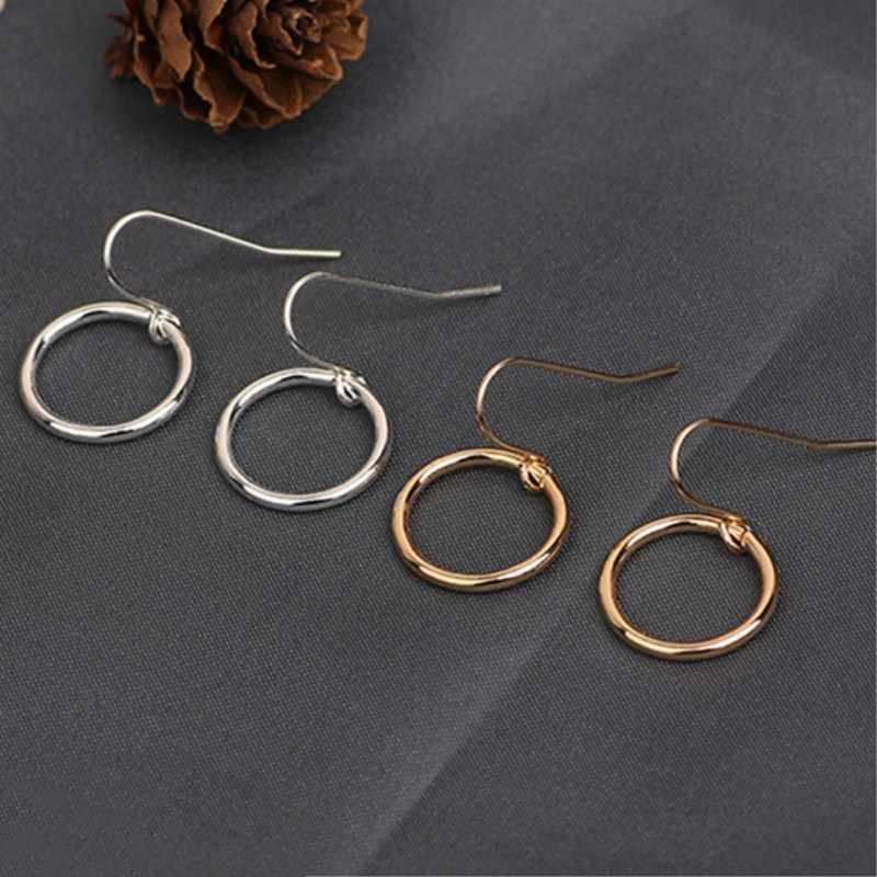 EK2073 European Brand Minimalist Simple Punk Circle Dangle Earrings Women Fashion Jewelry Geometric Round Drop Earrings Cheap