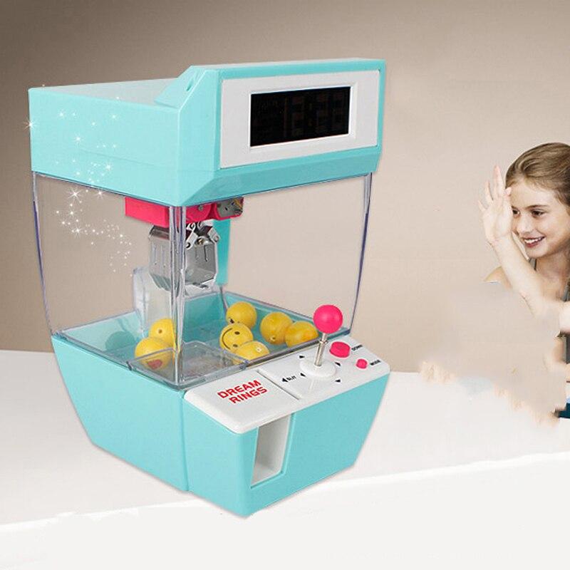 Mini caramelo Grabber catcher Crane perezoso despertador máquina jamma Arcade sanwa práctico Juegos de mesa niños regalos