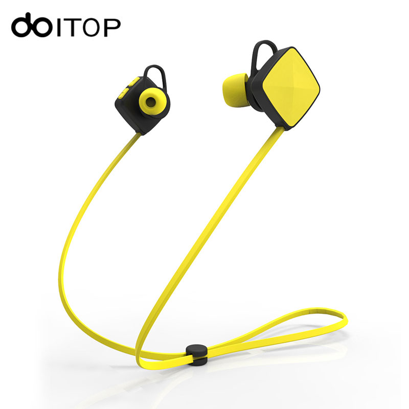 DOITOP Sports Bluetooth Earphone M3 Wireless Running Stereo Headset Earbuds Bass Earphone with Mic hands-free for iPhone Android new dacom carkit mini bluetooth headset wireless earphone mic with usb car charger for iphone airpods android huawei smartphone