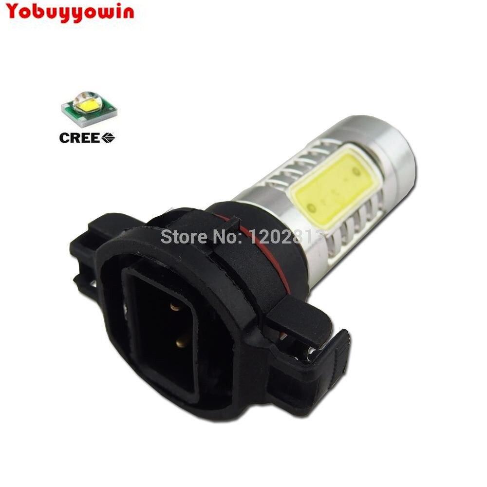Envío gratis 2 uds H16 blanco claro 2504 PSX24W 11W CREE CHIP LED DRL bombilla de luz antiniebla
