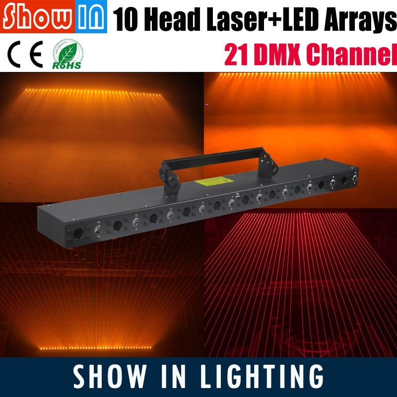 2018 3W RGB LED Laser Arrays 50W 100W DMX DJ Disco Party Wedding Stage Lighting Equipment Projector 110V 230V Head Free Shipping