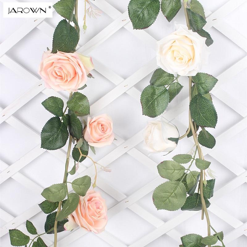 JAROWN Umělé Rose Květina Vines Simulace Dekorativní Umělé Květiny Pro Svatební Domácí Zahrada Dekorace Příslušenství