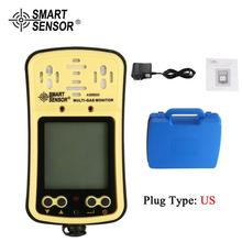 SMART SENSOR AS8900 Multi Gas Monitor gas detector Oxygen O2 Hydrothion H2S Carbon Monoxide CO Combustible 4 in 1 analyzer