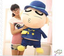 big plush kissing Crayon Shinchan toy huge blue coat Crayon Shinchan doll gift about 100cm 556