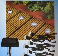 Solar Power LED Deck Lights Floor Lamp Stair Light IP67 Outdoor Waterproof Underground Lighting 8 Lamps