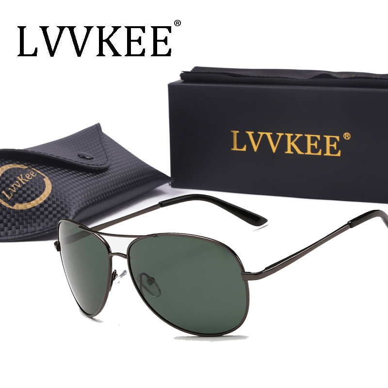 lvvkee Luxury Sunglasses Polarized Men Women sunglasses Navy Air Force  Eyeglasses Pilot Glasses original packaging 103 270719bcdb