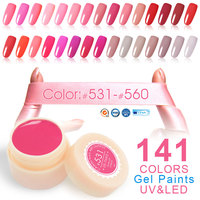 24pcs*5ml CANNI Gel Lacquer 141 Solid Colors UV LED Lamp Curing Free Ship Professional Nail Salon Manicure Color Painting Gel