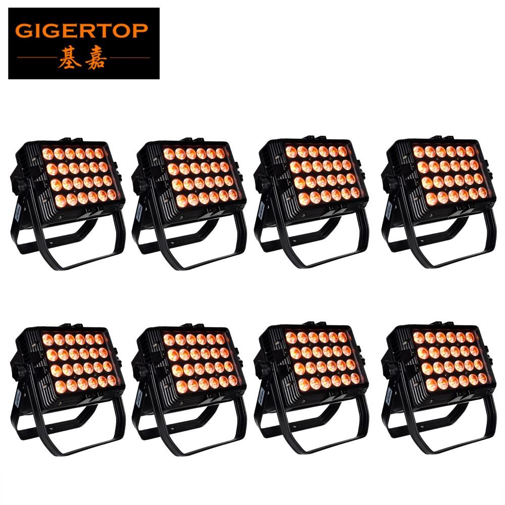 TIPTOP 8 Pack IP65 Waterproof Outdoor 24 X 18W Led Flood Light LED Wall Washer Lamp Landscape Wash Wall Light TP-W2418