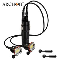 ARCHON WH156W dual heads dive flashlight max 30000 lumens Led hand lamp