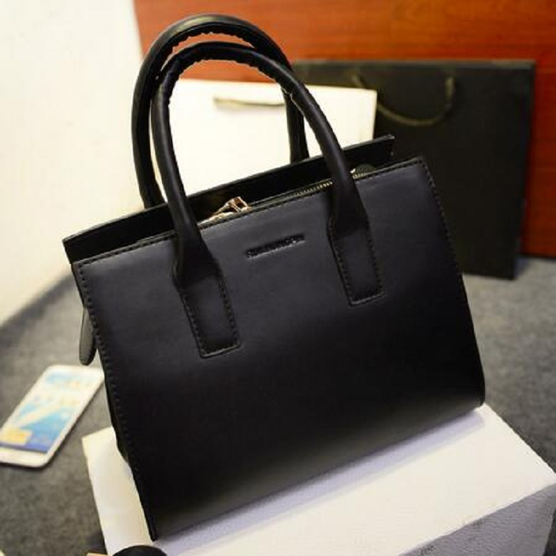 b6b8ccda77 American Style Women Bag Leather Handbags Brand Designer Women Luxury Cheap  Briefcases Clear Ladies Work Hand Bags Tote