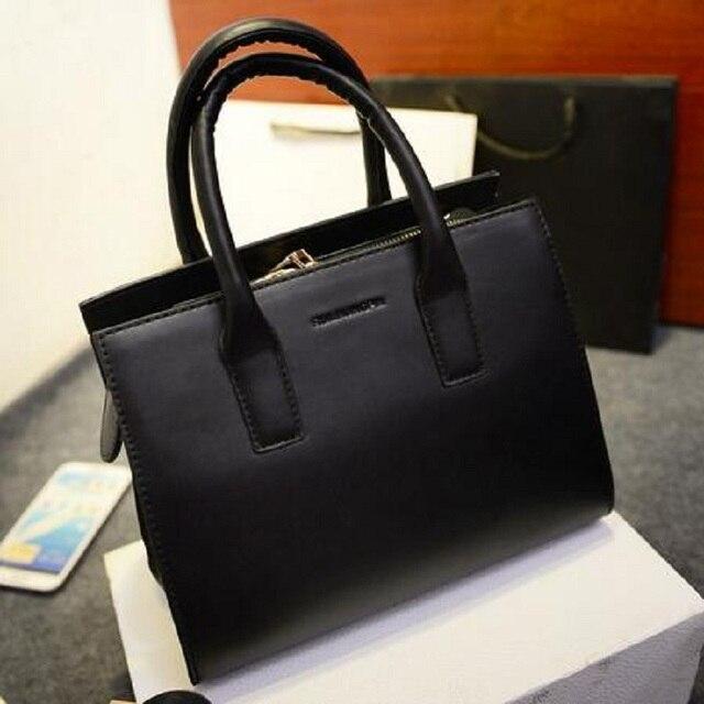 American Style Women Bag Leather Handbags Brand Designer Luxury Briefcases Clear Las Work Hand