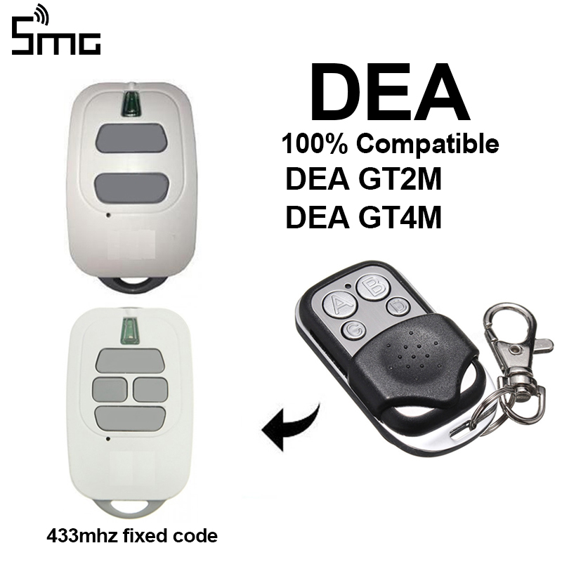 1pcs Compatible With DEA GT2M GT4M 433mhz Remote Control Transmitter DEA Fixed Code 433.92mhz Garage Gate Door Opener