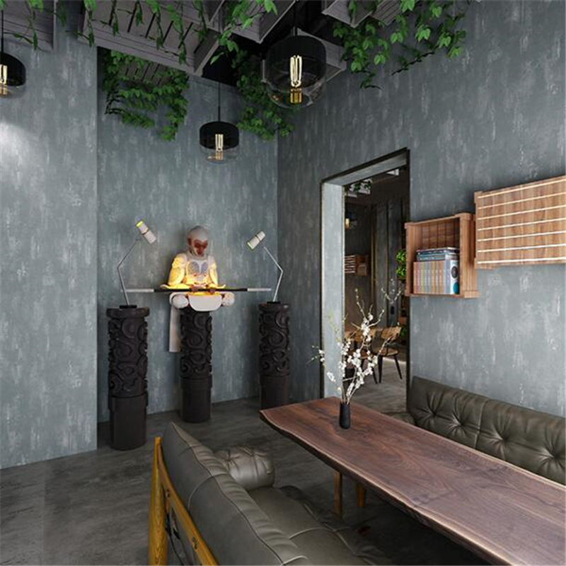 beibehang new Retro nostalgia living room background gray wallpaper pure American plain mottled cement industrial wind wallpaper beibehang high end nordic mottled wallpaper retro nostalgia plain non woven wallpaper bedroom living room full shop wall paper
