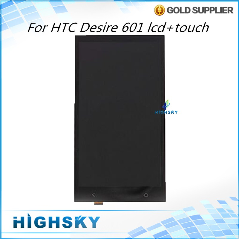 10 PCS Free EMS DHL Black 4.5 inch Tested New LCD For HTC Desire 601 Zara Display With Touch Screen Digitizer Assembly