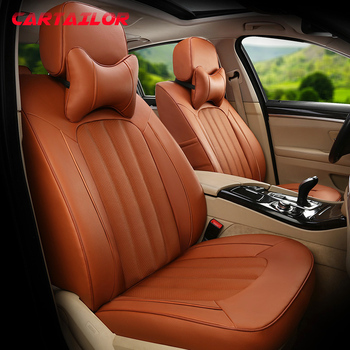 CARTAILOR Auto Seat Covers & Supports for Toyota Fortuner Car Seat Cover Leather Cowhide Accessories Cars Leatherette Seats Set