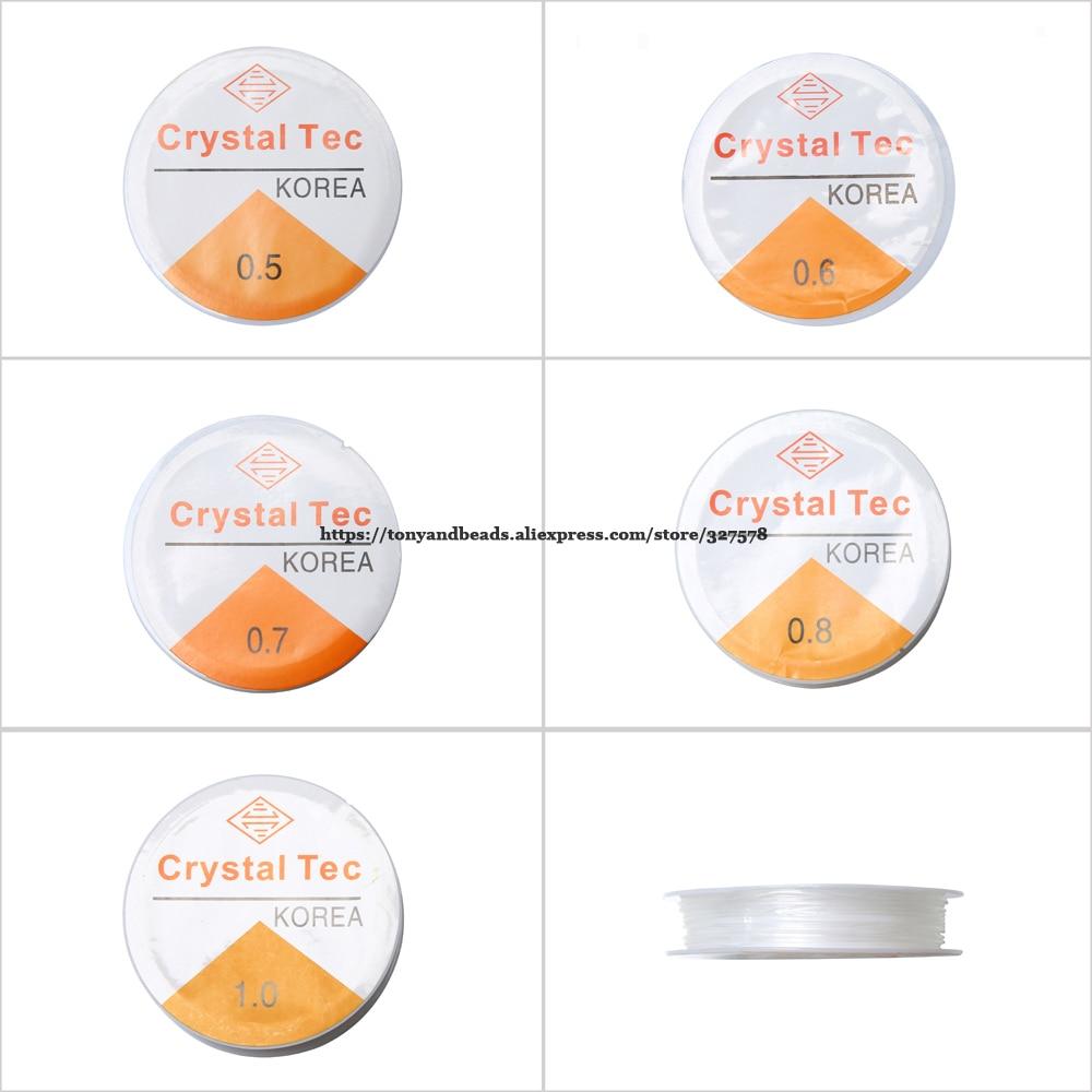 (10 adet = 1 grup!) Ücretsiz kargo kristal boncuk streç kordon elastik çizgi iplik dize seçim boyutu takı yapımı için