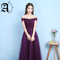 Lady beauty 2019 Robe De Soiree dark purple Evening Dresses Long women fashinable Formal Gown Long Prom Dresses robe rouge