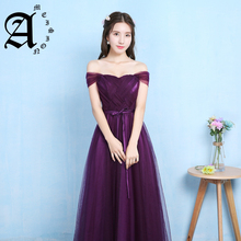 Lady beauty 2019 Robe De Soiree dark purple Evening Dresses Long women fashinable Formal Gown Long Prom Dresses robe rouge все цены