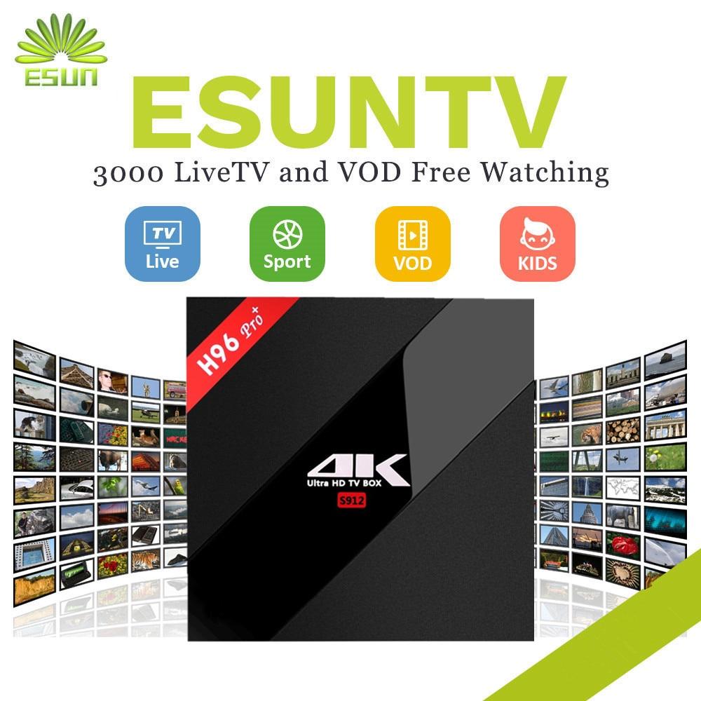 Home Audio & Video 1 Year Iptv Include H96pro Android 7.0 Iptv Box 3/32g S912 Iptv Spain Portugal Germany United Kingdom Albania Ex-yu Usa Xxx Crazy Price