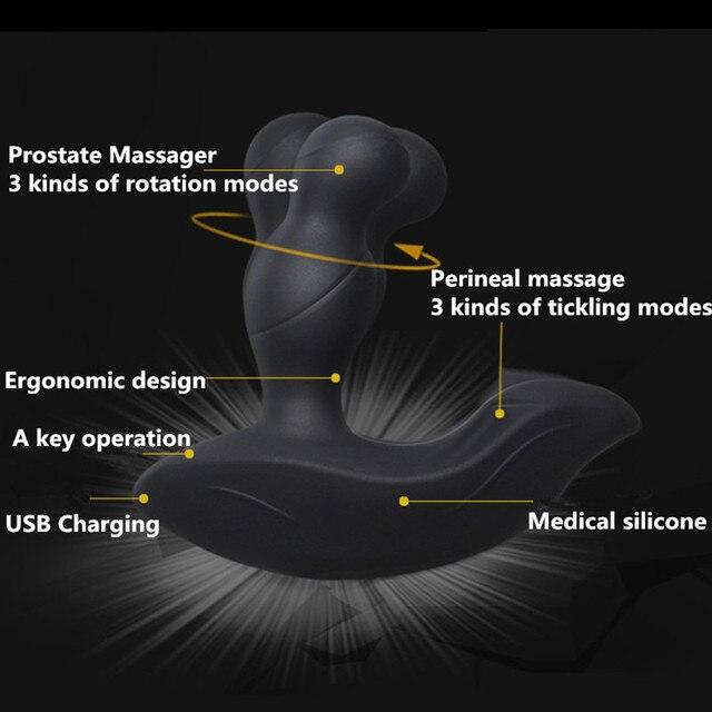 360 grados giratoria cosquillas Control remoto inalámbrico masajeador de de de Prostata vibrador Anal enchufe masturbador masculino juguetes sexuales para hombres ceae57