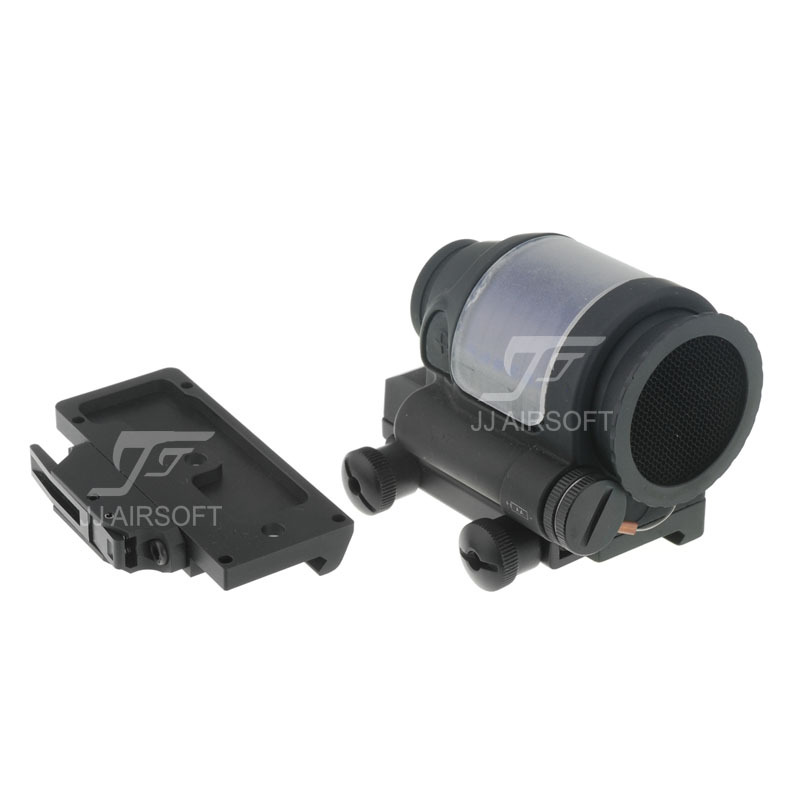 JJ Airsoft SRS Style 1x38 Red Dot with Killflash / Kill Flash (Solar cell assisted) &  QD / Quick Release Mount AC32002 jj airsoft t1 t 1 red dot 45 degree offset mount qd mount and low mount tan
